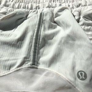 White lulu lemon shorts size 4